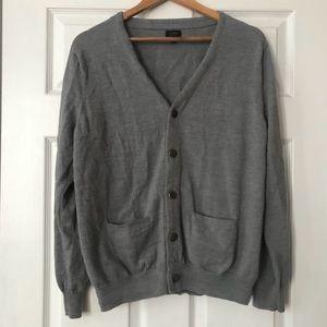 J. Crew Gray Cardigan Sweater